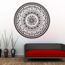 Large Wall Decor Australia - 1 Pcs Mandalas Indian Pattern Wall Decals Home Decorative Namaste Yoga Wall Stickers Removable Wallpaper Modern Style Home Decor