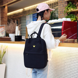 Pack Supplies Australia - Cute Cat Women Backpack Black Canvas Schoolbags For Teenage Student Large School Bag For Girls Supplies Women Back Pack 2019 New