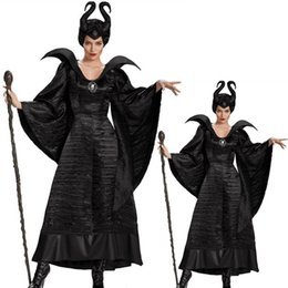 Maleficent Movie costuMes online shopping - Movie Maleficent outfits Costume girls Dress Black Sleeping Beauty Queen Maleficent Cosplay witch Costume adult Women