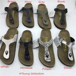 Vente en gros Unisexe Sabots Femmes Casual En Cuir PU Sandales Designer Chaussures pour Hommes et Femmes Birk Clog Thong Sandales Designer Diapositives US4-14