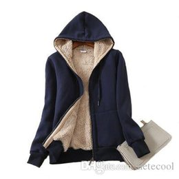 zip up sweatshirt hoodies Australia - Warm women hoodie Women's Casual Winter Warm Sherpa Lined Zip Up Hooded Sweatshirt Jacket Coat moletom feminino Plus size 4XL