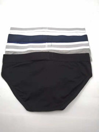Wholesale men briefs resale online - 5pcs Mens Briefs Underwear Shorts Fashion Sexy Thong Underwear Casual Short Man Comfortable Male Gay Brief Underwear Slips High Quality