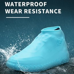 kids indoor shoes 2019 - 1 Pair Reusable Shoes Covers Adults Kids Waterproof Silicone Shoes Protectors for Indoor Outdoor For Men Women discount