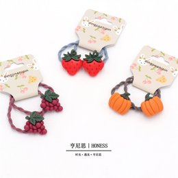 $enCountryForm.capitalKeyWord Australia - Korean children's accessories fruit hair rope baby cute strawberry tie band hair band Yiwu jewelry wholesale