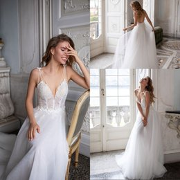 $enCountryForm.capitalKeyWord Australia - Sexy V-Neck Backless Sleeveless Wedding Dress Vestido De Noiva Applique Lace Beading Wedding Bridal Gowns Robe De Mariage
