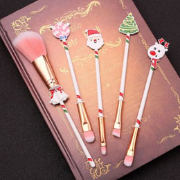 face shaping tool Australia - Christmas New Cute Cat Claw Shape Face Makeup Brushes Powder Foundation Eyeshadow Brush Beauty Cosmetic Makeup Tools Gifts Fashion
