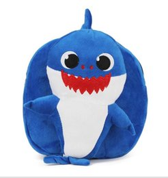 $enCountryForm.capitalKeyWord NZ - Lovely cheap plush shark kids backpack custom cute soft baby shark plush toy plush backpack