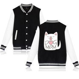 $enCountryForm.capitalKeyWord Australia - kawaii 2D cute Printed Dog Mom harajuku Baseball Jackets Women Men Long Sleeve Jackets New Arrival Hot Sale Casual Clothes