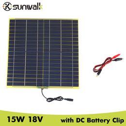 $enCountryForm.capitalKeyWord Australia - Batteries Cells, SUNWALK 15W 18V Cell Panel with DC Output Crocodile Clip Solar for DIY Solar System