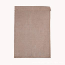Wholesale DIY Blank Garden Flag Blank Jute Yard Flag Festival Wedding Party Decoration for those who love DIY arts
