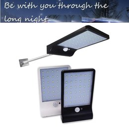 floodlight pole NZ - Aluminum pole 48 36 LED Solar Motion Sensor Garden Light Waterproof Outdoor Decor path Security street spot floodlight Wall lam for yard gar