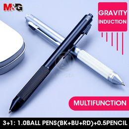 $enCountryForm.capitalKeyWord Australia - M&G 3+1 Metal Multifunction Pen 1.0mm Black Blue Red Ball Pens plus 0.5mm Mechanical Pencil 3 Colors Multicolor for school