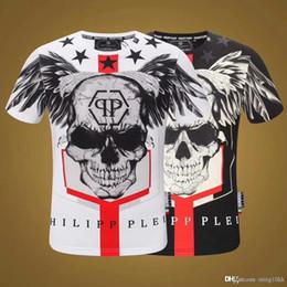 Crystals skulls online shopping - 2019ss new brand designer short sleeve T shirt rhinestone men s wear Joker new fashion trend men s wear skulls
