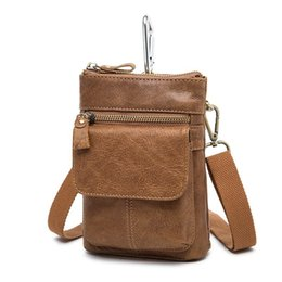 Small Leather Messenger Bags Australia - High Quality Man Bags Genuine Leather Small Men Messenger Bags Cowhide Travel Shoulder For Men Cross Body Waist Packs