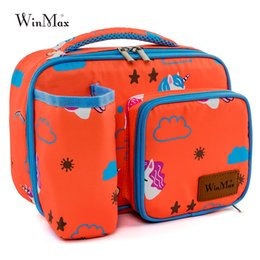 cool bag picnic UK - Insulated Picnic Bag Children Thermal Cooler Bag Kids Aluminum Foil Bags for Lunch Portable keep Food Warm Box School Picnic BBQ