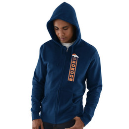 Hoodie caps online shopping - 2019 Men Denver Sweatshirt Broncos Salute to Service Sideline Therma Performance Navy Black Hyper Stack Full Zip Hoodie