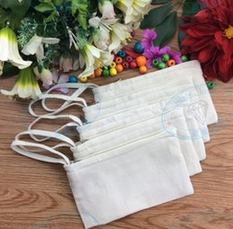 $enCountryForm.capitalKeyWord Australia - 100Pcs lot 11*20cm Pure white cotton canvas cosmetic Bags DIY women blank plain zipper makeup bag phone clutch bag keychain bag