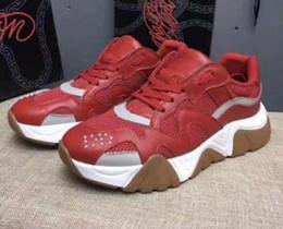 $enCountryForm.capitalKeyWord Australia - Latest Chain Reaction 19FW men sneakers mesh stitching leather casual shoes luxury designer men Squalo platform sports logo casual shoes L41