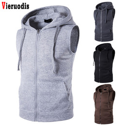 $enCountryForm.capitalKeyWord Australia - Autumn Spring Hoodies Cardigans Jacket Fit Slim Jacket Men's Sleeveless Fashion Hoody Sweatshirt Casual Zipper Pocket Men Ves