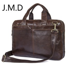 Color Leather Bags Australia - J.M.D 2019 New Arrival 100% Genuine Leather Shoulder Bag Men's Laptop Bag Handbag Briefcase Messenger 4 Color 7092 #489749