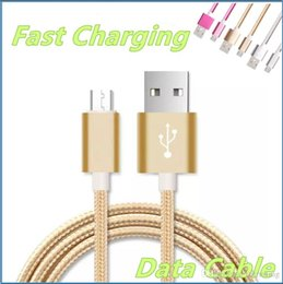 Data Iphone Led Australia - 2.1A Unbroken heavy duty Metal Braid Type Micro USB Data Cable Charger Lead 1M 2M 3M For IPhone 5 6 7 8 Samsung S5 S6 S7 S8 Charging MQ500