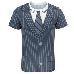 $enCountryForm.capitalKeyWord Australia - Men's Tie Striped Tuxedo T-Shirt Bowtie Shirt Gentleman Tee Theme Party Birthday Wedding Carnival Halloween Top for Adult