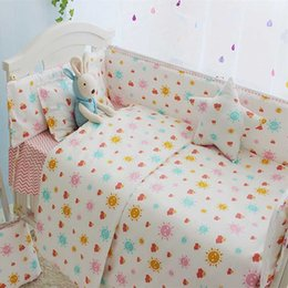 princess kids beds NZ - Sunshine Baby Girl Crib Bedding Set Princess Style Girl Kids Bedding Set Newborn Cot 100% Cotton Baby Bed Linen Bed Clothes