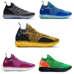 Kd Shoes Christmas Australia - Best Quality KD 11s Kevin Durant Hot Sale Basketball Shoes for Men XI Multi Color Training Shoes Sport Shoes Elite Low Designer Sneakers