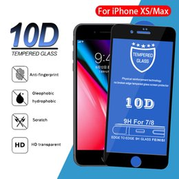 anti shock protectors Canada - 9H Hardness Screen Protector 10D Tempered Glass Hard Edge Phone Protective Anti-shock Guard Film For iPhone 11 Pro Max XS XR X 8 7 6 6S Plus