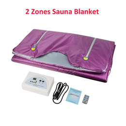 heated slimming blankets Canada - New arrivals model 2 Zone FIR Sauna FAR Infrared BODY SLIMMING Sauna Blanket Slimming Machine heating therapy Slim Hot Fat SPA