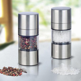 $enCountryForm.capitalKeyWord Australia - Manual Salt Pepper Mill Grinder Stainless Steel Seasoning Muller Cooking Tool Accessarie Kitchen Grinding Bottle Pepper Grinder