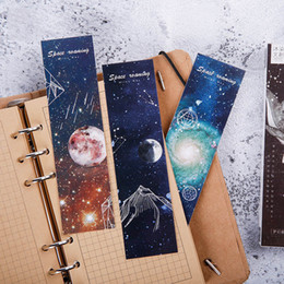 paper bookmarks for books NZ - 30Pcs Kawaii Starry Bookmarks Novely Universe BookmarksPaper Book Marks For Kids Girls Gifts School Office Supplies Stationery
