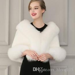 $enCountryForm.capitalKeyWord Australia - Ladies White Black Faux Fur Cape Wedding Gown Capelet Winter Warm Outwear Deluxe Fur Shawl Cloak Coats Short Jackets CJF0930
