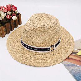 $enCountryForm.capitalKeyWord Australia - Little Bees Designer Hats Caps Men Womens Wide Brim Luxury Hats Summer Beach Hat Brand Cap New Arrived Hot Sale Grass Hat Top High Quality
