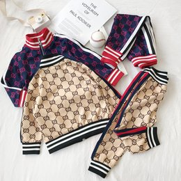 christmas clothes Australia - Kids Boy Clothes Sets New Baby Tracksuits Fashion Letter Jackets + Joggers Casual Sports Style Sweatshirt Boys Girls for Free Shipping