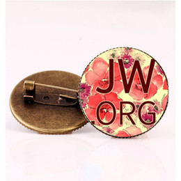 $enCountryForm.capitalKeyWord Australia - Vintage JW.ORG Picture Pins Steampunk Jehovahs Witnesses Collar Pin Glass Photo Cabochon Bronze Brooch Jewelry