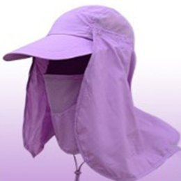 $enCountryForm.capitalKeyWord NZ - Outdoor Travel Sport Jungle Bucket Hat Hiking Camping Face Mask Neck Cover Fishing Cap UV Protection Sun Shade Hat