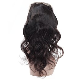 Loose Curly Human Hair Weaving UK - 9A Frontal Full Lace 360 Closure Brazilian Virgin Human Hair Weaves Straight Hair Loose Curly Body Deep Water Wave