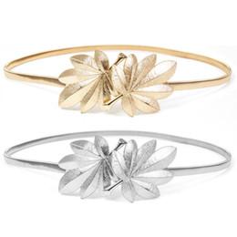 Glitter Belts Australia - Women Skinny Waistband Shape Metal Buckle Glitter Solid Color Elastic Wedding Dress Waist Belt Gold Silver