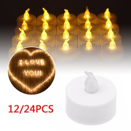 led candle votive UK - 12 24xFlameless Candles Votive Candles Battery Operated Flickering LED Tea Light