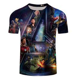 $enCountryForm.capitalKeyWord Australia - NEW Movie Avengers 3 Infinity War Superhero Thanos Hawkeye Hulk Tees 3D Print T Shirt Unisex Tops Summer Fashion Men T-Shirt