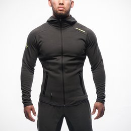 Thin Bodybuilding Hoodies Australia - gym Hoodie outdoors Man Letter printing Trend fashion Sell well Europe and America Leisure time motion Bodybuilding motion Men's leisure
