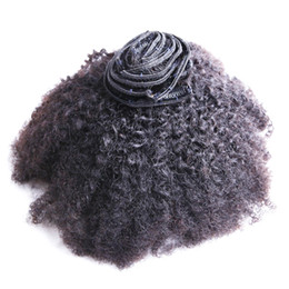 natural human hair clip extensions UK - 8pcs Afro Kinky Curly Clip in Human Hair Extensions Natural Black Mongolian Remy Hair Clip Ins 100g curly clip in human hair extensions