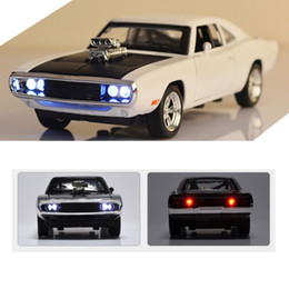 sound charger Australia - Hot 1:32 Dodge Charger Diecast Metal Model Car Sound Light Pull-back Vehicle Toy For Boy Children And Kids Gift 4 Colors Q190604