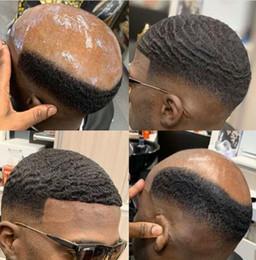 8mm Wave Afro Hair Lace Toupee para BasketBass Jogadores e Ventiladores Brazilian Remy Reposição Humana Free Express Entrega em Promoção