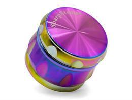 $enCountryForm.capitalKeyWord UK - 2pcs Rainbow Drum shape Chamfer Grinders Ice Blue Grinder sharp ston Grinder Chamfer 63mm Zinc Alloy 4 Layers Grinders vs space case grinder