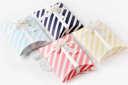 $enCountryForm.capitalKeyWord Australia - 2019 4 Color Creative stripes Candy Box Pillow Shape Gift Bag Party Supplies Baby Baptism Party Supplies Gift Packing Box