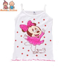 cool baby clothes UK - 4Pcs lot Girls Tanks Children Vest Beach Clothing Baby Girl Summer Wear Tops Cotton Sleeveless Cool Good Quality