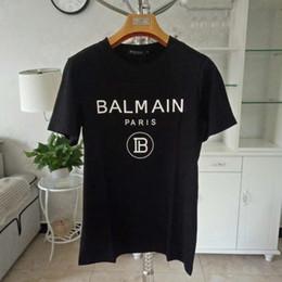 T shirT prinT size online shopping - Balmain T Shirt Balmain Mens Designer T Shirts Polo Luxury Men Women Tees Short Sleeve Size S XL