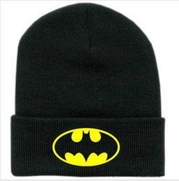 05d9171726b Black Beanie Ski Mask Australia - New Winter Caps Batman Face Mask Unisex  BBOY Beanies Women